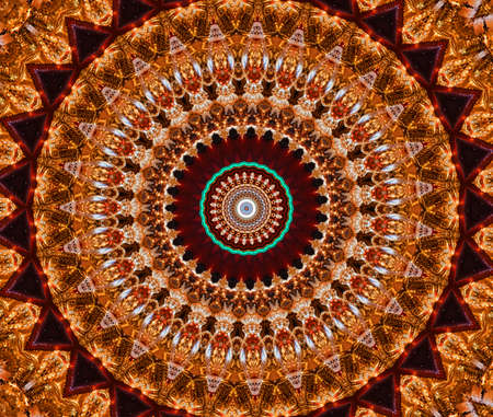 brown mosaic pattern Stock Photo - 9266867