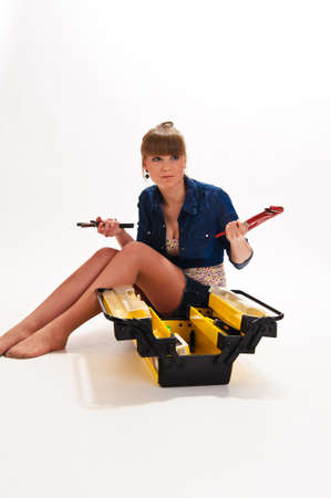 Girl with tools photo