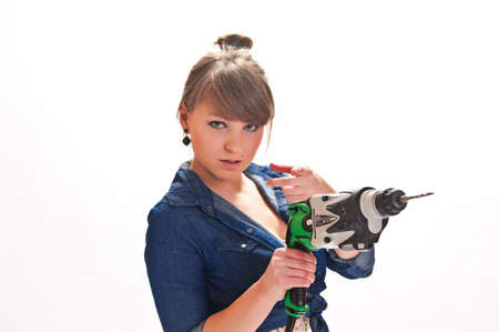 yourselfer: girl with a drill