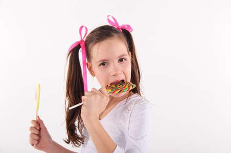 girl with big lollipop photo