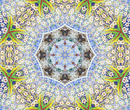 kaleidoscope: green blue circular pattern