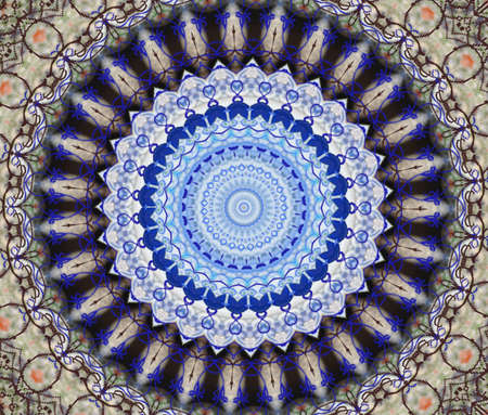 white and blue circular pattern photo