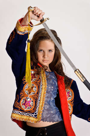 girl with sword photo