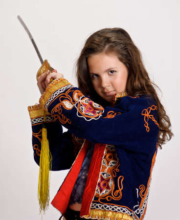 girl with sword Stock Photo - 9449752