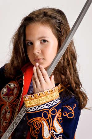 girl with sword Stock Photo - 9449758