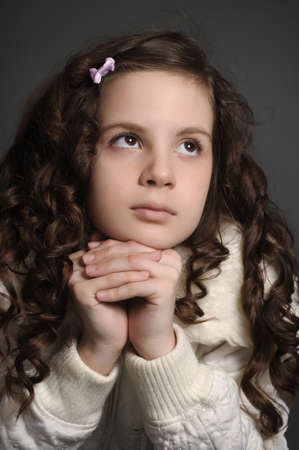 beautiful girl with curly hair Stock Photo - 9351972