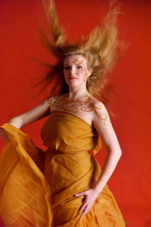 Hair in motion photo