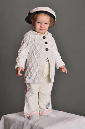 little girl in a sea cap photo