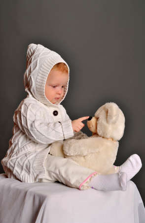 baby and teddy bear Stock Photo - 9381338