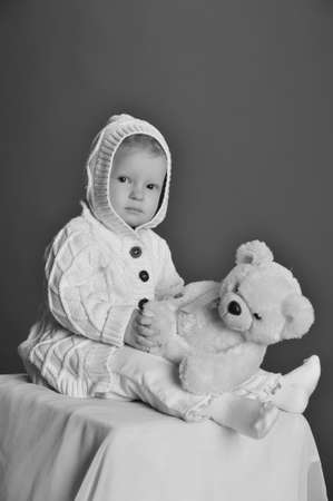 baby and teddy bear Stock Photo - 9381337