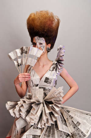 smart investing: Girl in the newspaper