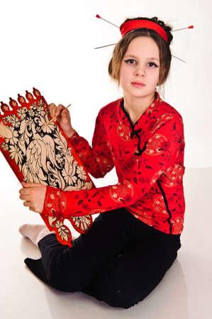 Girl drawing photo