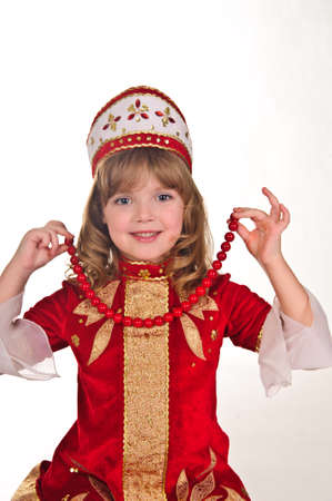 little girl in a Russian costume photo
