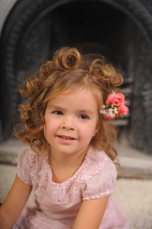 Elegant portrait of a sweet young girl  photo