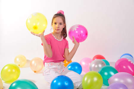 Girl and balloons Stock Photo - 10115178