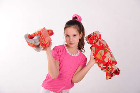 girl with big candy photo
