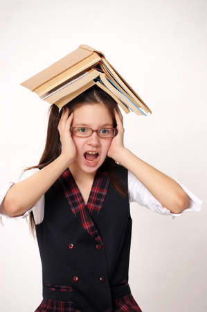 Student unwilling to do homework Stock Photo - 9410746
