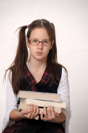 Girl student with books  Stock Photo - 9410744