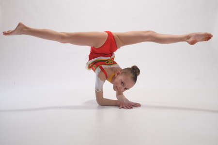female gymnast: Girl gymnast Stock Photo