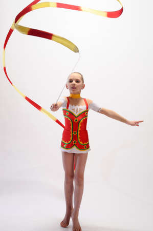Gymnast with Ribbon photo