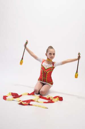 Girl gymnast Stock Photo - 9446876