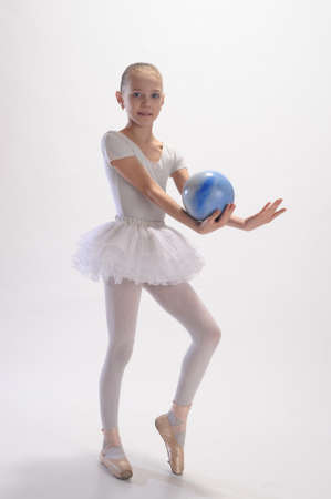 The gymnast with a ball photo