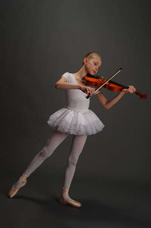 Ballerina Girl with violin photo