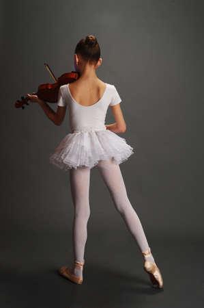 violinista: Joven bailarina de viol�n