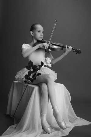Ballerina Girl with violin photo