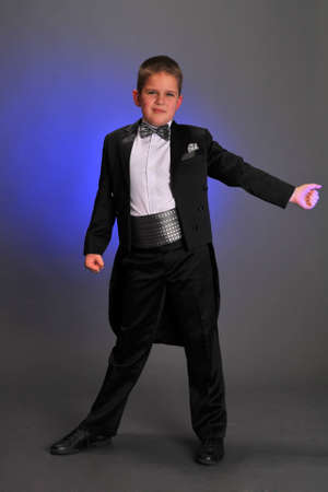 Boy wearing tuxedo Stock Photo - 9414409