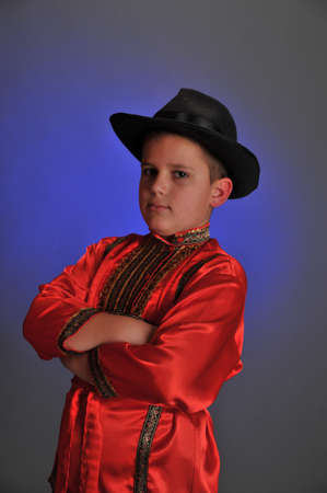 boy in the Russian folk shirt Stock Photo - 9414376