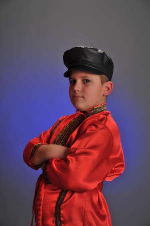 boy in the Russian folk shirt Stock Photo - 9414375