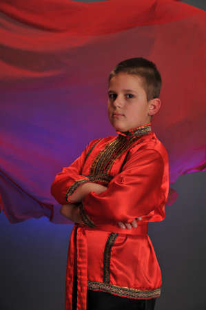 boy in the Russian folk shirt Stock Photo - 9414386