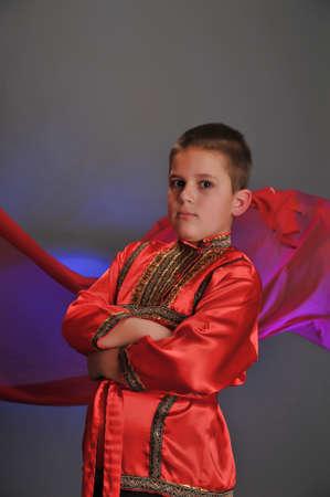 boy in the Russian folk shirt photo