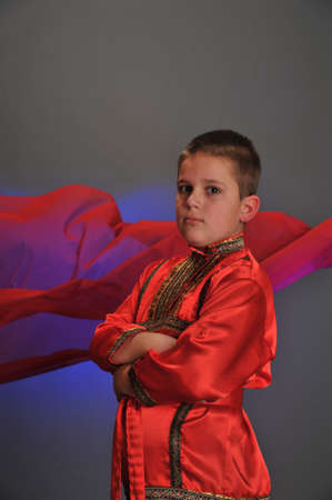 boy in the Russian folk shirt Stock Photo - 9414377