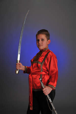 cossack: young Cossack Stock Photo