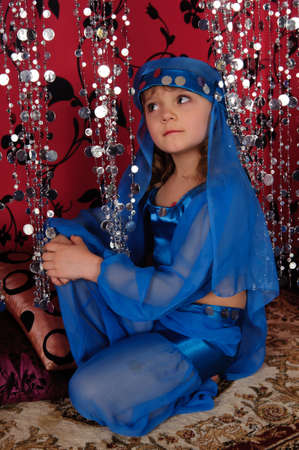 The little girl in oriental costume Stock Photo - 9422689