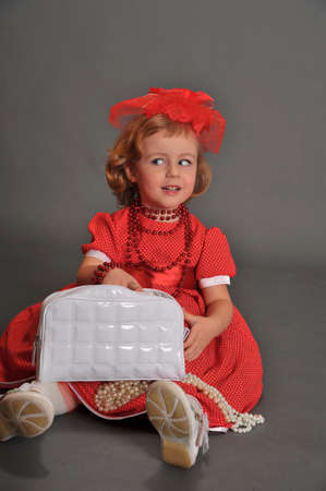 well-dressed little girl in red dress Stock Photo - 13731967