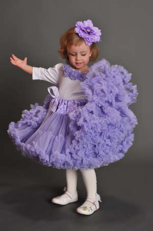 Child wearing pettiskirt photo