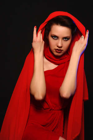 Woman in Red photo