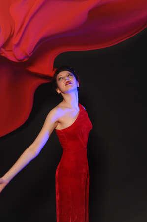 girl in red dress Stock Photo - 9446702