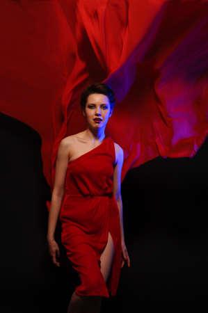 girl in red dress Stock Photo - 9446706