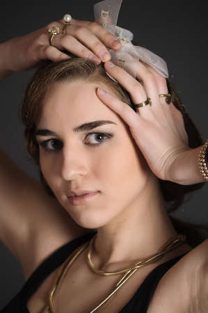 Portrait of retro young woman Stock Photo - 10033704