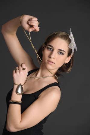 Portrait of retro young woman Stock Photo - 10033714