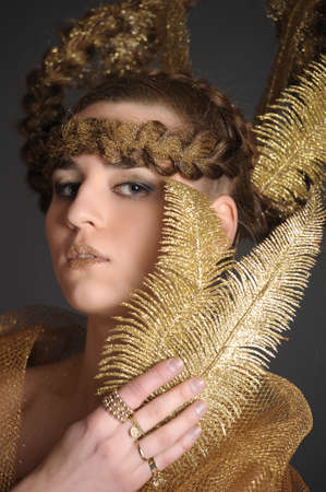 golden lady Stock Photo - 10327062