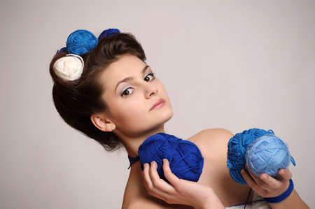 Fashion woman in knitting style Stock Photo - 10702424