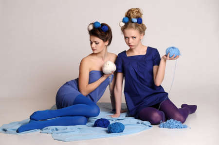 Fashion girls in knitting style Stock Photo - 10702484