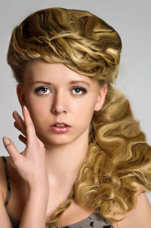 girl with braids around her head Stock Photo - 10912959