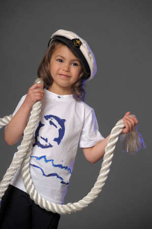 a young sailor with rope photo