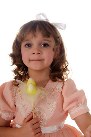 Girl with Easter decorations Stock Photo - 11056431